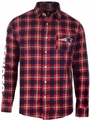 New England Patriots Wordmark Mens Long Sleeve Flannel Shirt