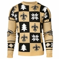 New Orleans Saints 2016 Patches NFL Ugly Crew Neck Sweater by Forever Collectibles