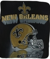 New Orleans Saints NFL Fleece Throw Blanket