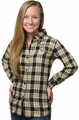 New Orleans Saints NFL 2016 Women's Wordmark Long Sleeve Flannel Shirt