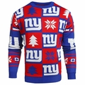 New York Giants 2016 Patches NFL Ugly Crew Neck Sweater by Forever Collectibles