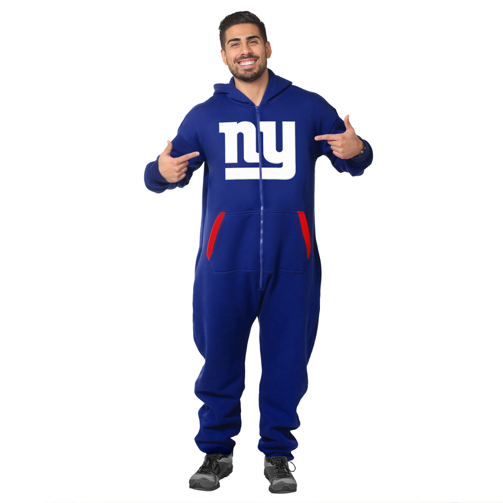 Men's New York Giants Royal Polyester Thematic Polo