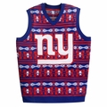 New York Giants Aztec Print Ugly Sweater Vest