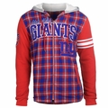 New York Giants NFL Flannel Hooded Jacket by Klew