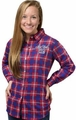 New York Giants NFL 2016 Women's Wordmark Long Sleeve Flannel Shirt