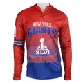 New York Giants Super Bowl XLVI Champions Poly Hoody Tee