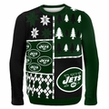 New York Jets NFL Ugly Sweater Busy Block