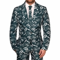 New York Jets NFL Repeat Logo Ugly Business Suit by Forever Collectibles