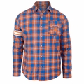 New York Knicks NBA 2015 Women's Wordmark Long Sleeve Flannel Shirt