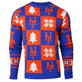 New York Mets 2016 Patches MLB Ugly Crew Neck Sweater by Forever Collectibles