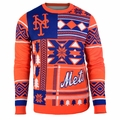 New York Mets Patches MLB Ugly Sweater by Klew