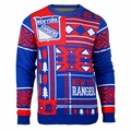 New York Rangers 2016 Patches NHL Ugly Crew Neck Sweater by Forever Collectibles