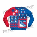 New York Rangers NHL Ugly Sweater BusyBlock