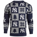 New York Yankees 2016 Patches MLB Ugly Crew Neck Sweater by Forever Collectibles