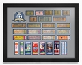New York Yankees 27 Time World Series Champions Tickets to History - Framed Print