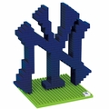 New York Yankees MLB 3D Logo BRXLZ Puzzles By Forever Collectibles