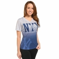 New York Yankees MLB Team Color Gradient Women's V-Neck Tee by Forever Collectibles