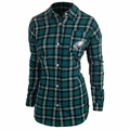 NFL 2015 Women's Wordmark Long Sleeve Flannel Shirts by Forever Collectibles