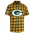 NFL Colorblock Short Sleeve Flannel