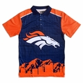 NFL Polyester Short Sleeve Thematic Polo Shirts by Klew