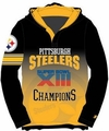 NFL Super Bowl Champions Poly Hoody Tee by Forever Collectibles