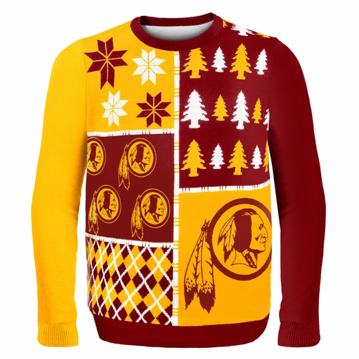 Washington Redskins NFL Ugly Sweater Busy Block
