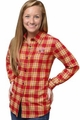 NFL 2016 Women's Wordmark Long Sleeve Flannel Shirts by Forever Collectibles