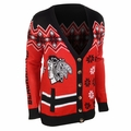 NHL Women's Ugly Cardigan by Klew
