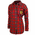 NHL Women's Wordmark Long Sleeve Flannel Shirts by Forever Collectibles