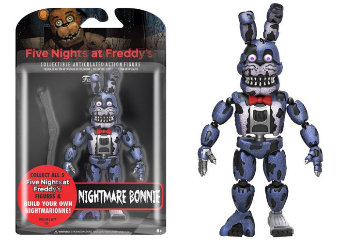 Nightmare bonnie five nights at freddy s 5 quot action figure by funko