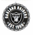 Oakland Raiders NFL Wall Decor Bottlecap Collection by Forever Collectibles