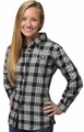 Oakland Raiders NFL 2016 Women's Wordmark Long Sleeve Flannel Shirt