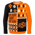 Oklahoma State Ugly College Sweater BusyBlock