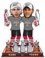 Patrick Kane/Jonathan Toews (Chicago Blackhawks) Real Fabric Champ T-Shirt/Champ Hat 3X Champ Banner/Cup Base 2015 Stanley Cup Champions Exclusive BobbleHead Double Set #/500