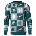 Philadelphia Eagles 2016 Patches NFL Ugly Crew Neck Sweater by Forever Collectibles