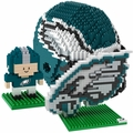 Philadelphia Eagles NFL 3D BRXLZ Puzzle Set By Forever Collectibles