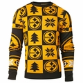 Pittsburgh Steelers 2016 Patches NFL Ugly Crew Neck Sweater by Forever Collectibles