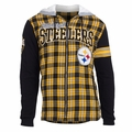 Pittsburgh Steelers NFL Flannel Hooded Jacket by Klew