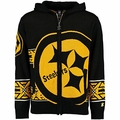 Pittsburgh Steelers NFL Full Zip Hooded Sweater