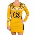 Pittsburgh Steelers NFL Women's Big Logo Sweater Dress