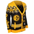 Pittsburgh Steelers NFL Women's Cardigan Ugly Sweater