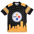 Pittsburgh Steelers NFL Polyester Short Sleeve Thematic Polo Shirt