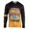 Pittsburgh Steelers Super Bowl IX Champions Poly Hoody Tee
