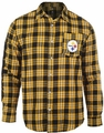 Pittsburgh Steelers Wordmark Mens Long Sleeve Flannel Shirt