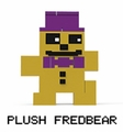 Plush Fredbear (Five Nights at Freddy's) Series 2 8-Bit Buildable Figure