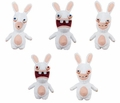 "Rabbids Invasion Plush ""With Sound"" (Set of 5) Series 1"