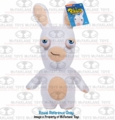 Rabbids Invasion Plush White Rabbid (Smirk) Series 2