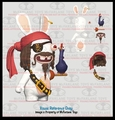 Rabbids Invasion Rabscallion (Pirate) Silly Swaps Series 1