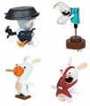 Rabbids Invasion (Set of 4) Sound And Action Figures Series 2