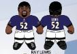 "Ray Lewis (Baltimore Ravens) 24"" NFL Plush Studds by Forever Collectibles"